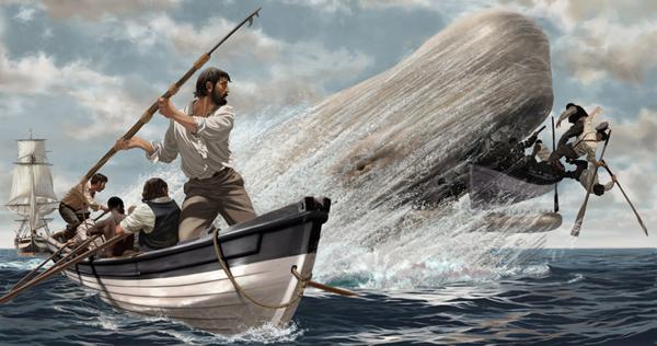 Moby Dick e Capitão Ahab