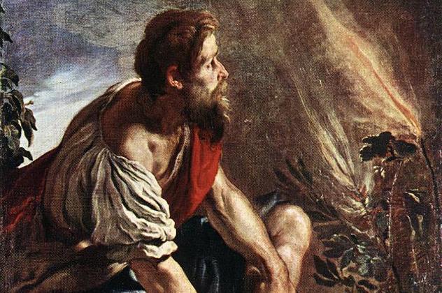 O arbusto em chamas Moisés