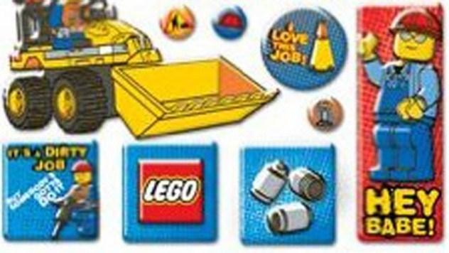 Trabalhador de construção galanteador lego