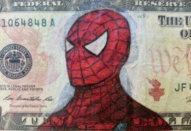 Artista desenhou personagens famosos em notas de dólar
