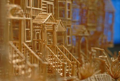 Artista cria a cidade de São Francisco com palitos de dente