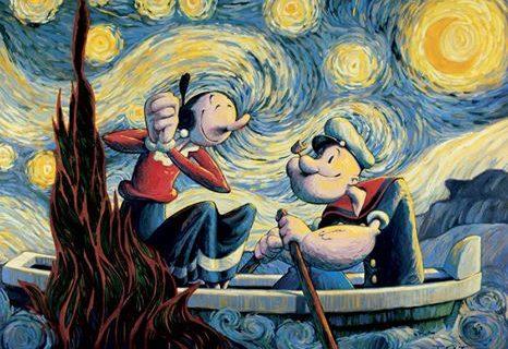Trabalhos artísticos homenageiam os 85 anos de Popeye