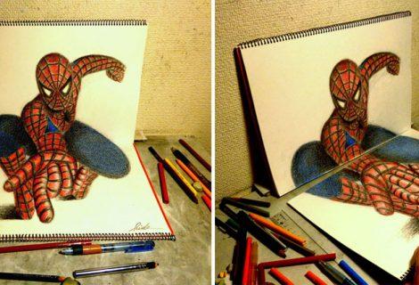 Desenhos a lápis 3D. Já viu?