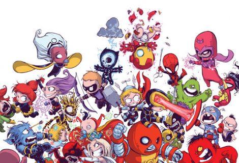 A versão baby dos Super-Heróis