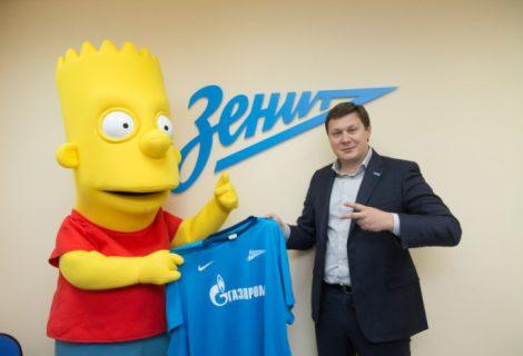 Bart Simpson novo atacante do Zenit