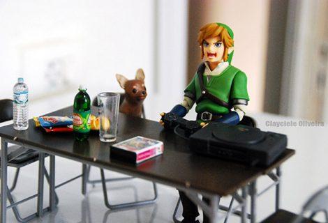 Fotógrafa brasileira cria ensaio com o protagonista de Zelda