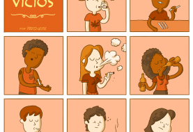 Quadrinhos retratam os vícios mais comuns