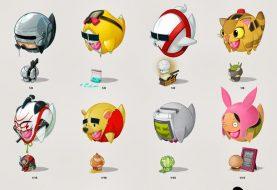 Personagens famosos em formato de bola
