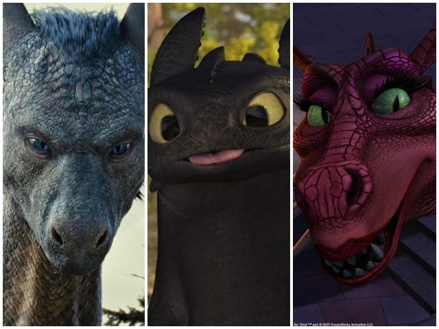 Os dragões mais famosos do cinema