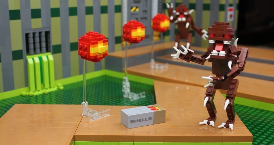 O Doom recriado com peças de Lego