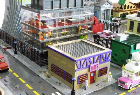 A cidade de Os Simpsons em Lego
