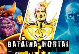 Uma batalha mortal entre Thanos, Superman Prime e Doutor Manhatan
