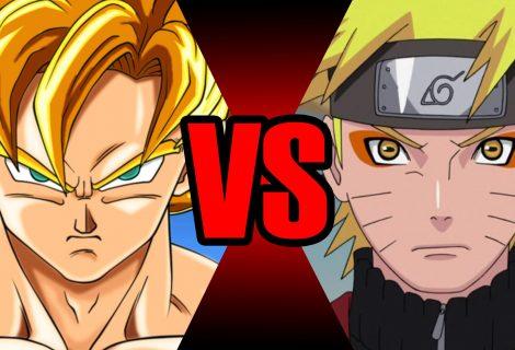 Goku contra Naruto lutam até a morte. Quem vencerá?