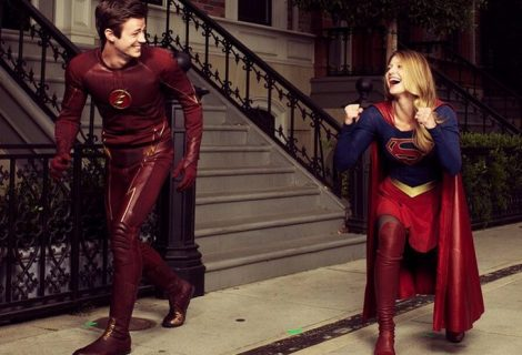 Supergirl e Flash juntos no primeiro cartaz do crossover na TV