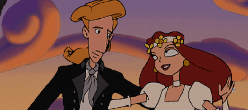 Guybrush Threepwood Elaine Monkey Island