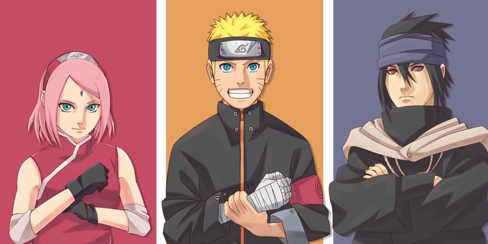 Sasuke, Naruto e Sakura