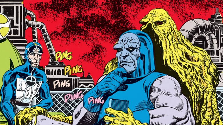 Darkseid Metron e Monstro do Pântano DC
