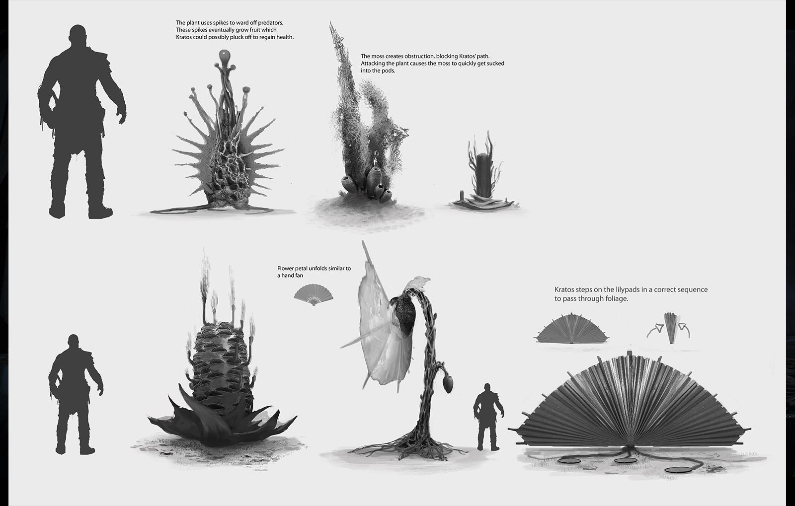 Concept Art de algumas partes dos cenários.