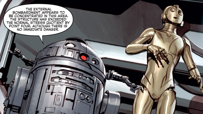 r2-d2 e c-3po star wars quadrinhos