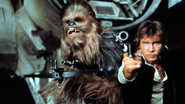 Han Solo e Chewbacca Star Wars