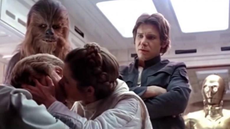 Star Wars Luke Léia beijo