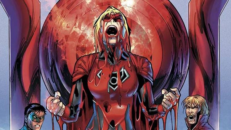 supergirl lanterna vermelha