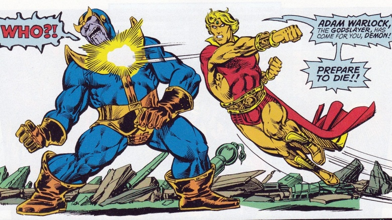 thanos e adam warlock