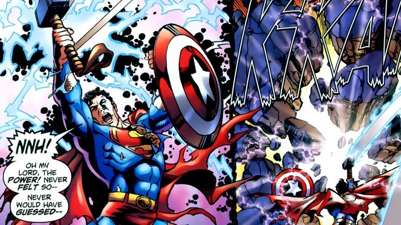superman escudo martelo thor capitão américa