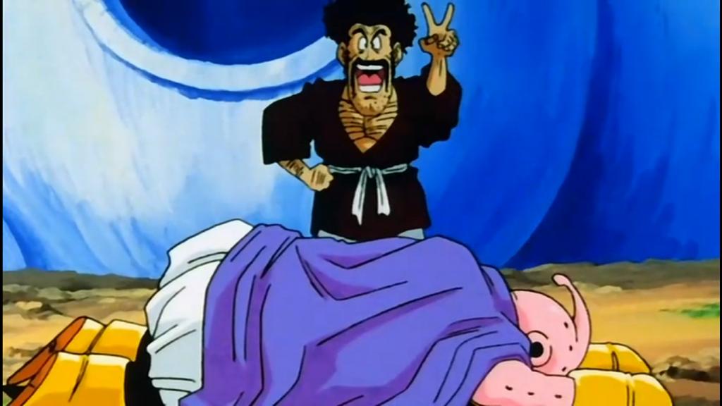 Mr. Satan e Majin Boo