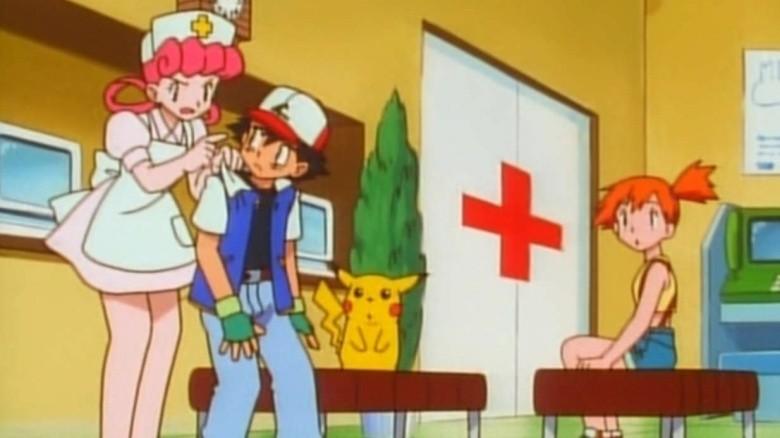 enfermeira joy ash pikachu mist pokémon
