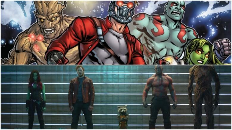 guardiões da galáxia filme quadrinhos