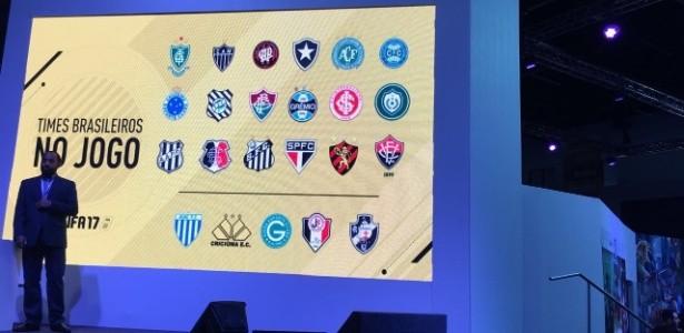 Times brasileiros Fifa 17