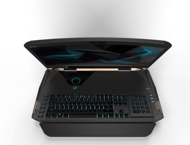 Empresa lança notebook para games com tela curvada de 21 polegadas