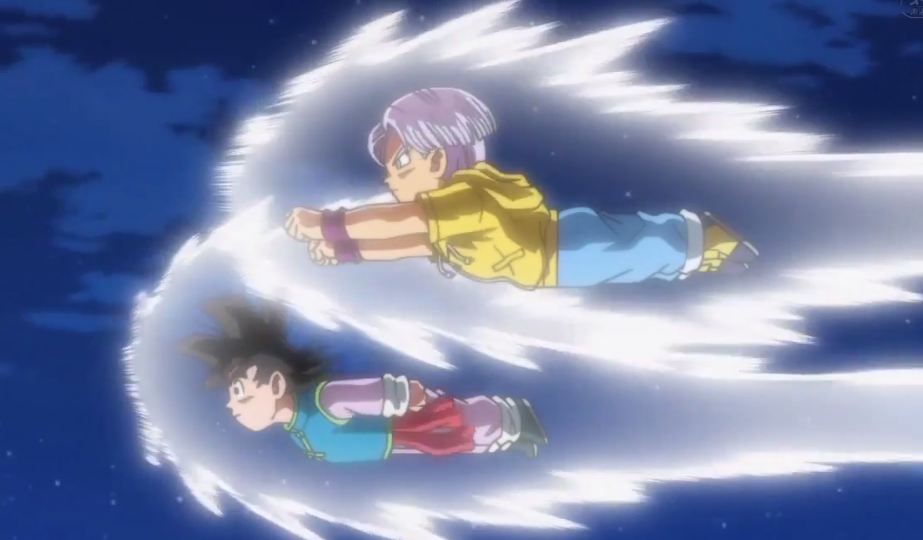 trunks-e-goten-voando
