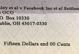 Facebook envia cheques para usuários como forma de indenização