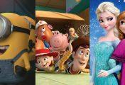 As 10 animações de maior bilheteria da história do cinema