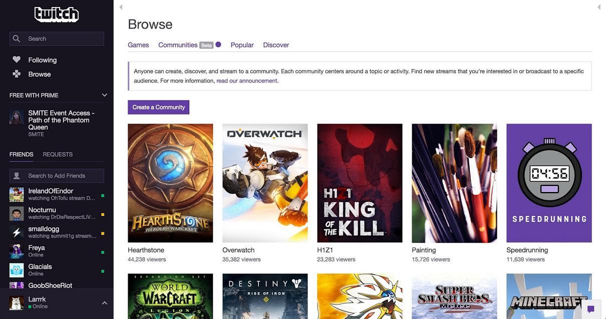 Twitch apresenta communities ferramenta para descobrir novos contedos stopboris Image collections
