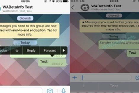 WhatsApp poderá permitir ao usuário apagar mensagens enviadas