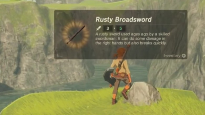 the legend of zelda breath of the wild rusty broadsword