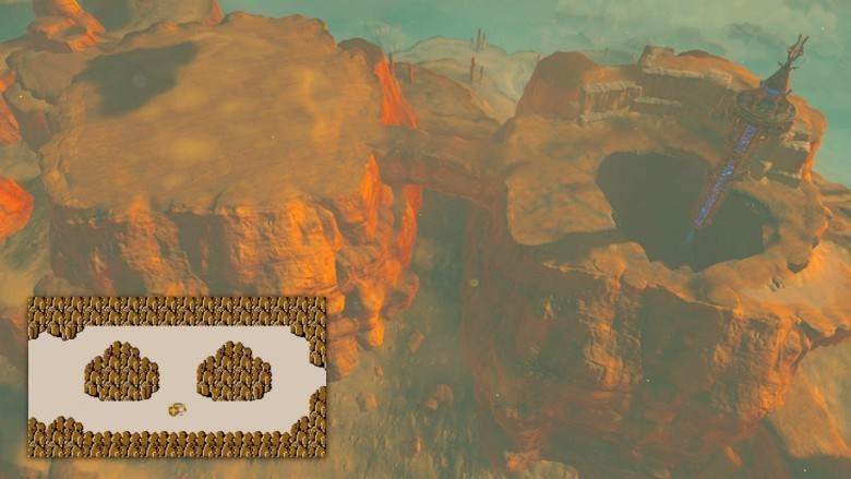 the legend of zelda breath of the wild spectacle rock