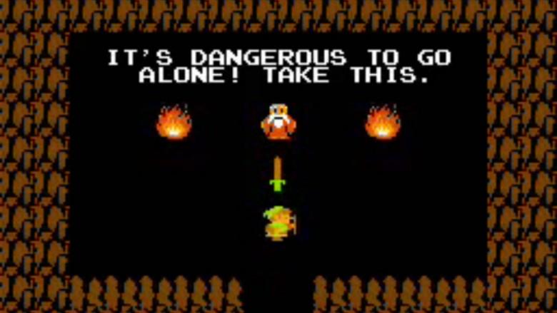the legend of zelda dangerous to go alone