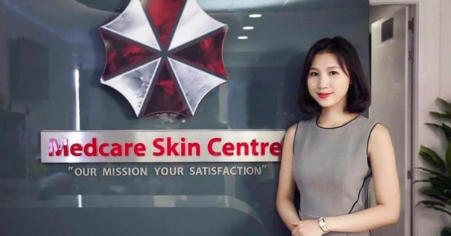 Logo da Umbrella Corporation de Resident Evil é usado em clínica real