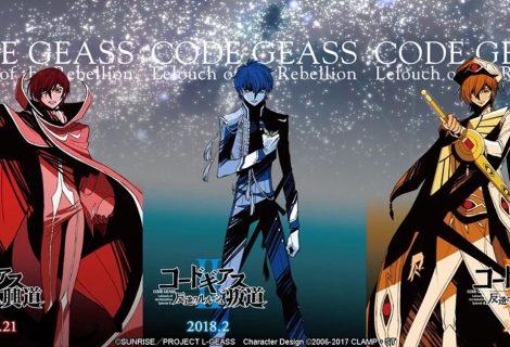 Code Geass recebe novos filmes e dois animes spin-off ainda em 2017