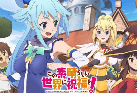 Série de comédia KonoSuba recebe um novo projeto de anime