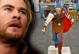 LEGO divulga um vídeo da construção de um Thor em tamanho real