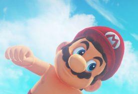 Mario surge sem camisa em imagem de Super Mario Odyssey