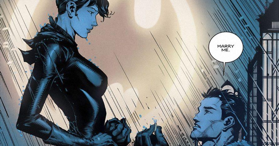 Mulher-Gato finalmente responde ao pedido de casamento de Batman