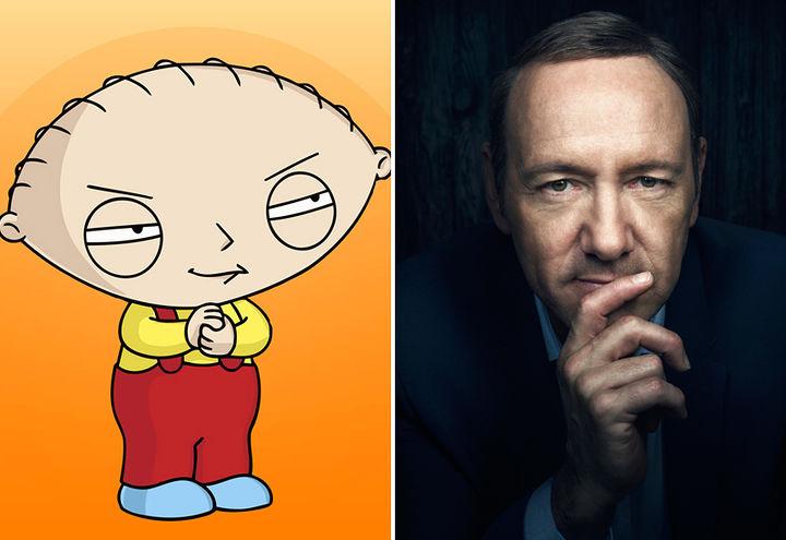 Em 2005, desenho Family Guy já sugeria abuso sexual de Kevin Spacey