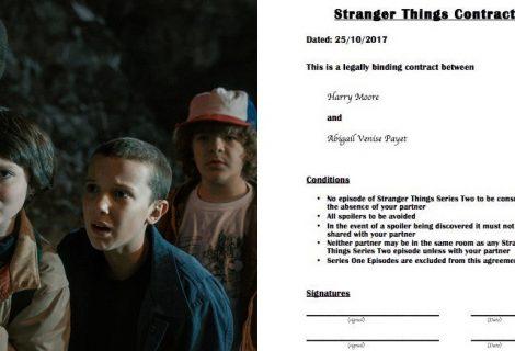 Casal faz contrato para evitar spoilers de Stranger Things