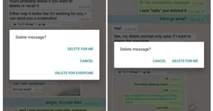 Arrependeu-se? WhatsApp permite apagar mensagens já enviadas